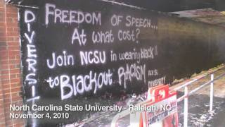 """Freedom of Speech...at What Cost? Join NCSU in Wearing Black to Blackout Racism"""
