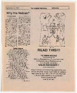 """""""Why the Nubian?"""""""