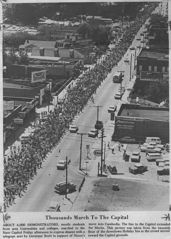 Peace Retreat March on Raleigh, May 1970