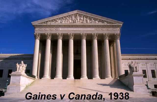 <em>Missouri ex rel. Gaines v. Canada, Registrar of the University of Missouri</em>, 1938