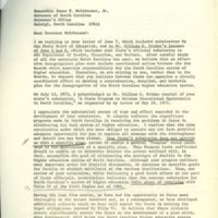 Peter Holmes to Governor James Holshouser, Nov. 13, 1973.jpg