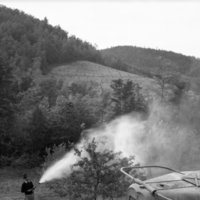 Spraying on Apple Research Laboratory- Wilkes County, May 1940