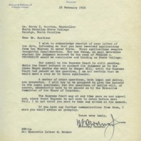William Rodman, Jr. to Chancellor Carey Bostian, February 28, 1956.jpg