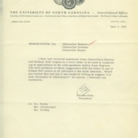 Memorandum from Consolidated University of North Carolina President Gordon Gray, June 3, 1955.jpg.pdf