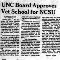 UNC Board approved Vet School for NCSU, Dec. 19, 1974..pdf