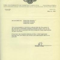 Memorandum from William Friday, May 15, 1956.jpg