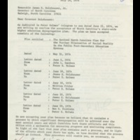 Peter Holmes to Governor James Holshouser, July 19, 1974.pdf