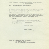 Memorandum from William Friday, March 1, 1956.jpg