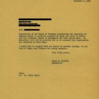 Chancellor Carey Bostian to [Name Redacted], November 4, 1954.jpg