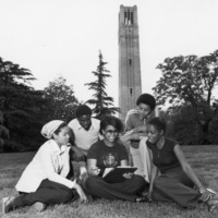 Students Studying by the Bell Tower, 1970.jpg