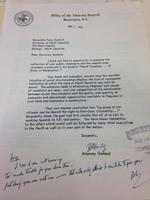 Letter from Robert F. Kennedy to Terry Sanford